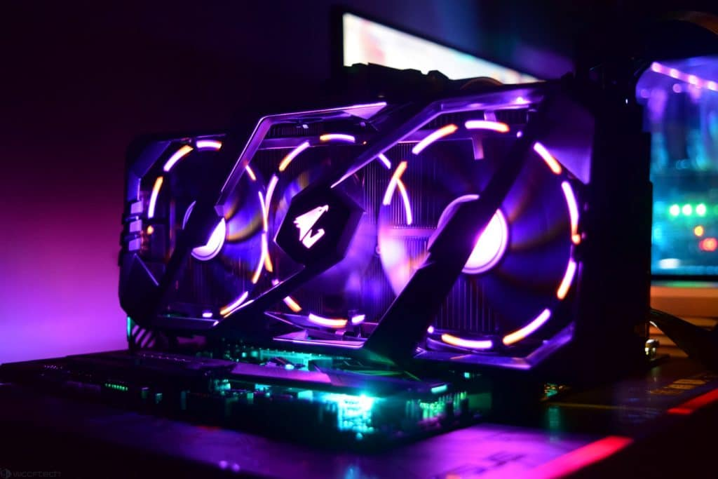 Videocard with RGB led