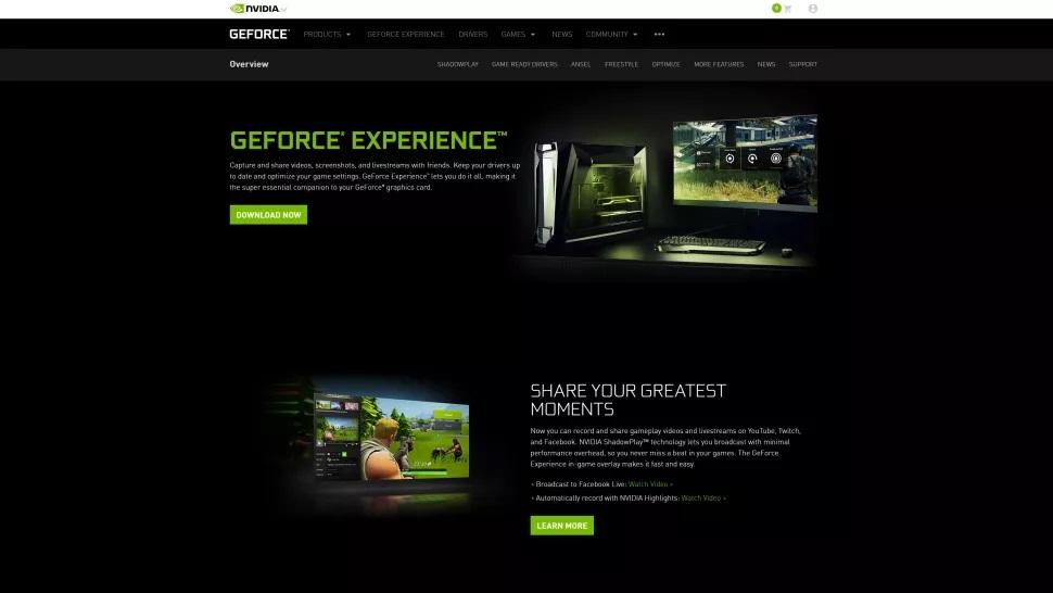 Скачать GeForce Experience