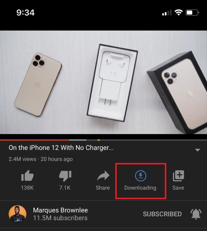 Как скачать видео на YouTube через официальное приложени