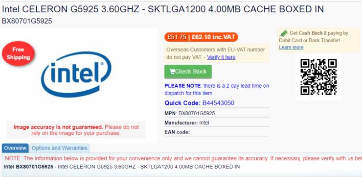 В продажу поступает 10-ядерный процессор Intel Core i9-10850K