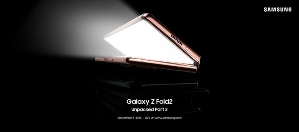 Гибкий смартфон Galaxy Z Fold 2 анонсируют в сентябре