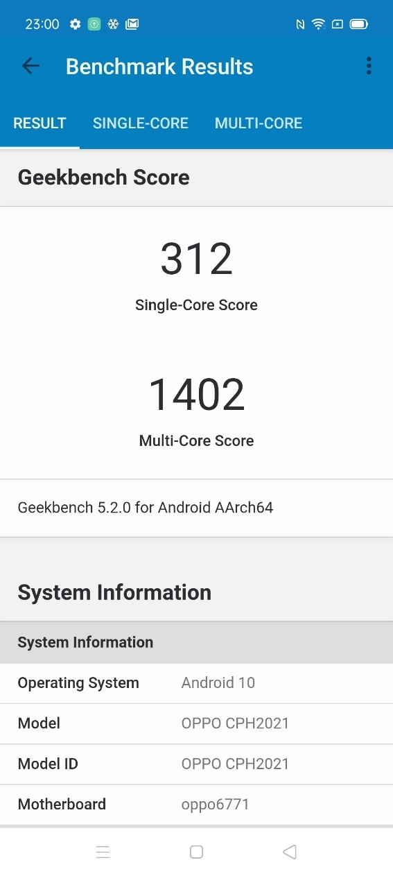 Geekbench 5 result 1
