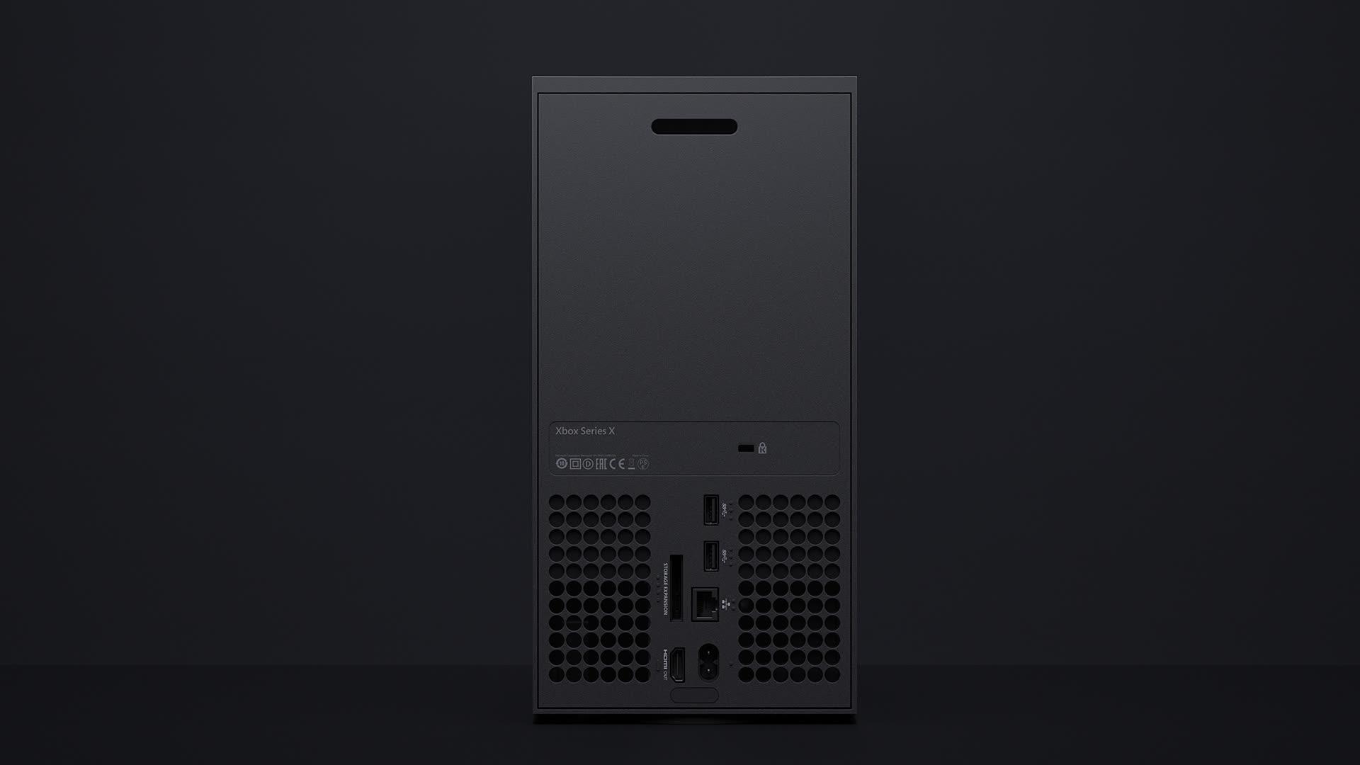 Xbox Series X вид сзади