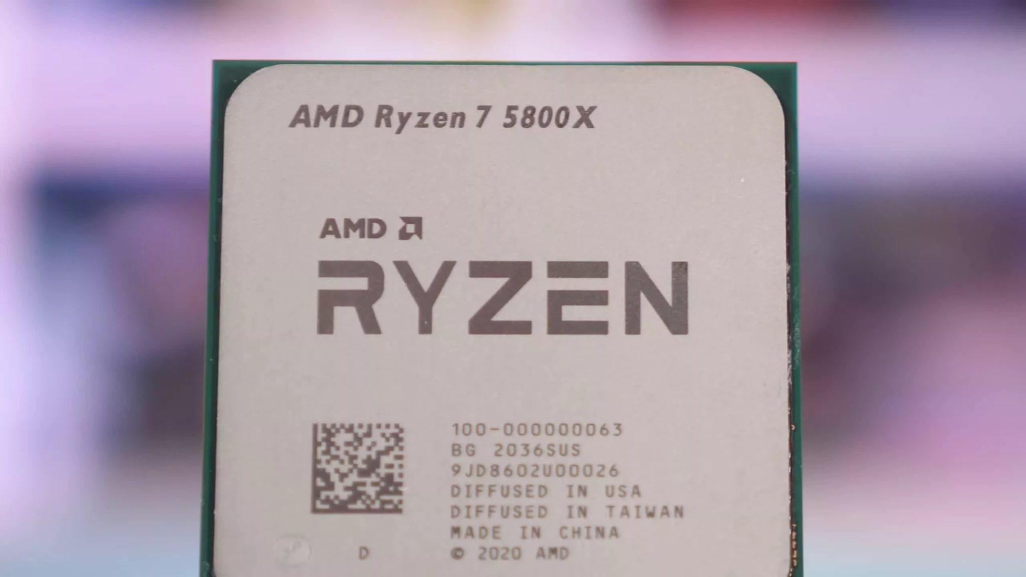 5800X процессор крупным планом