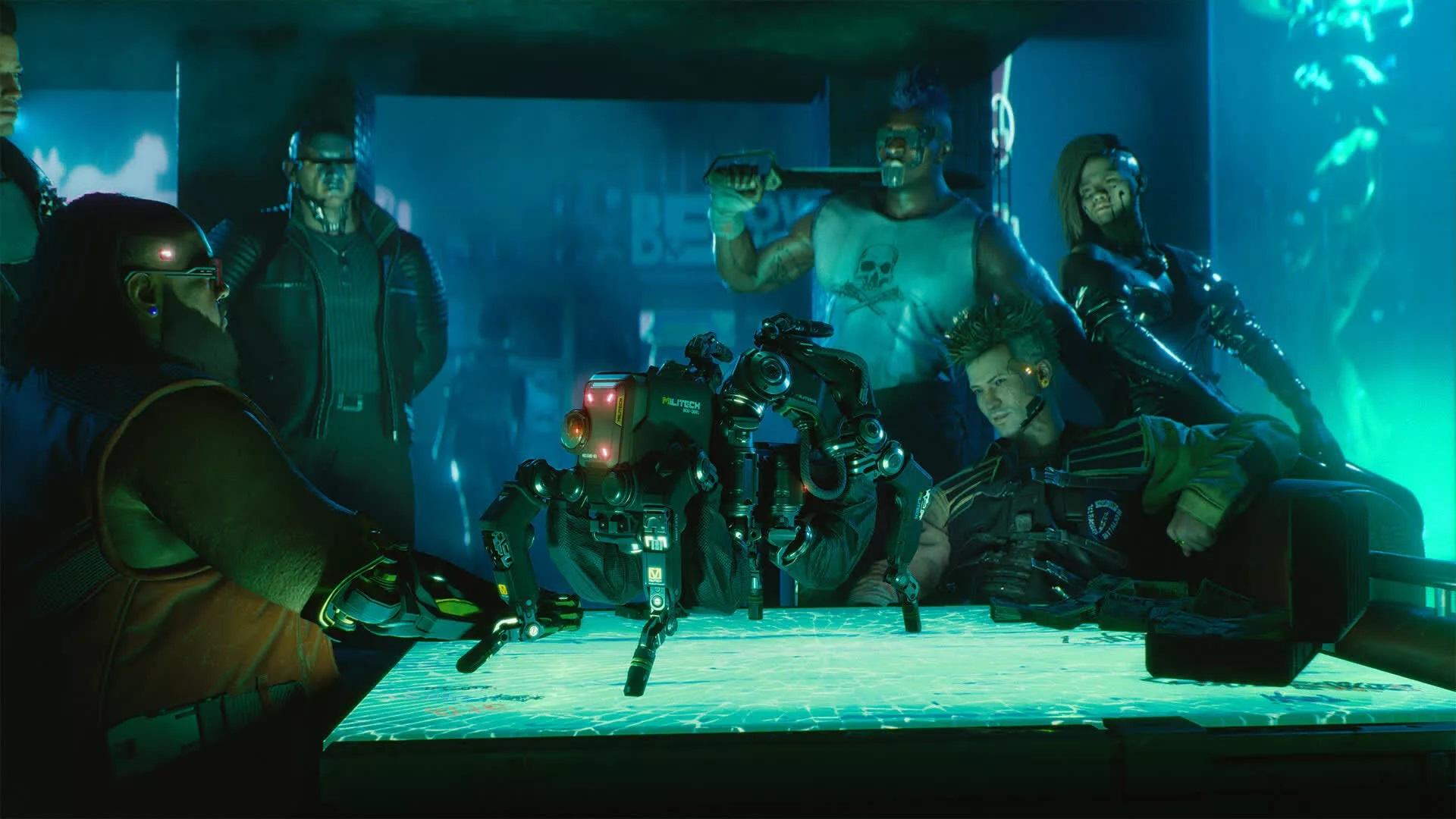 Сцена из Cyberpunk 2077