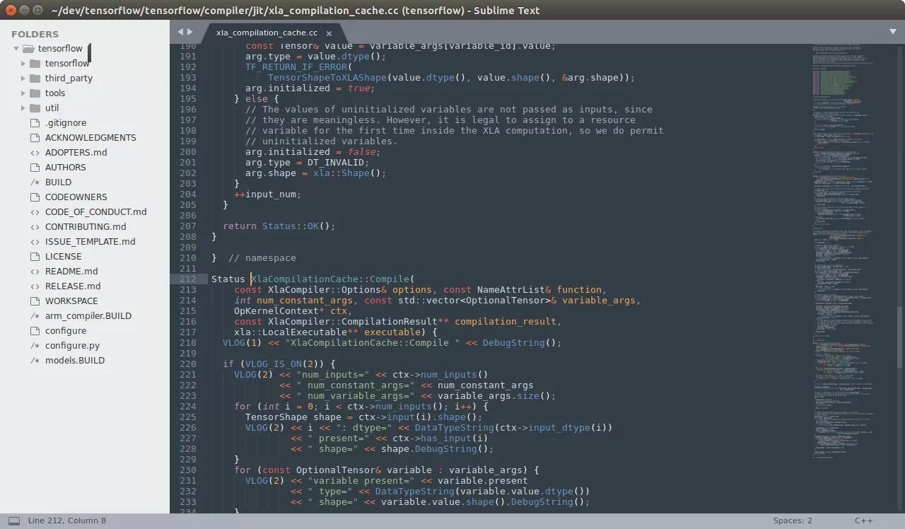 Редактирование текста и кода