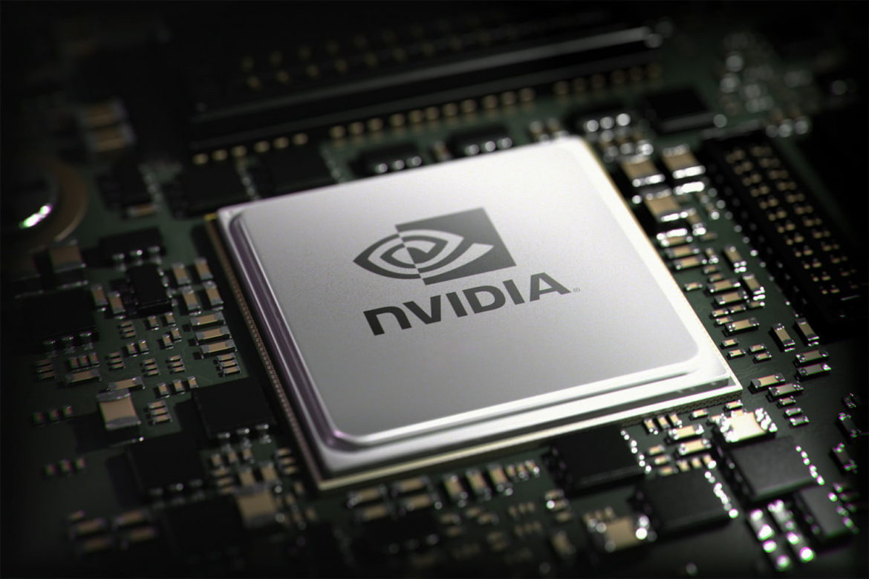 Логотип NVIDIA на чипе