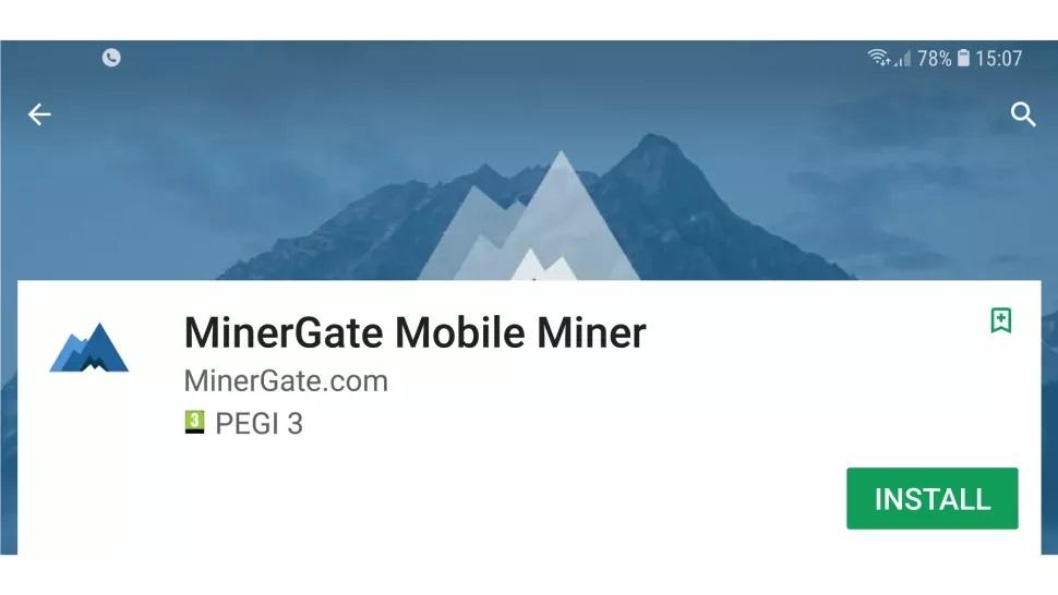 Установите MinerGate