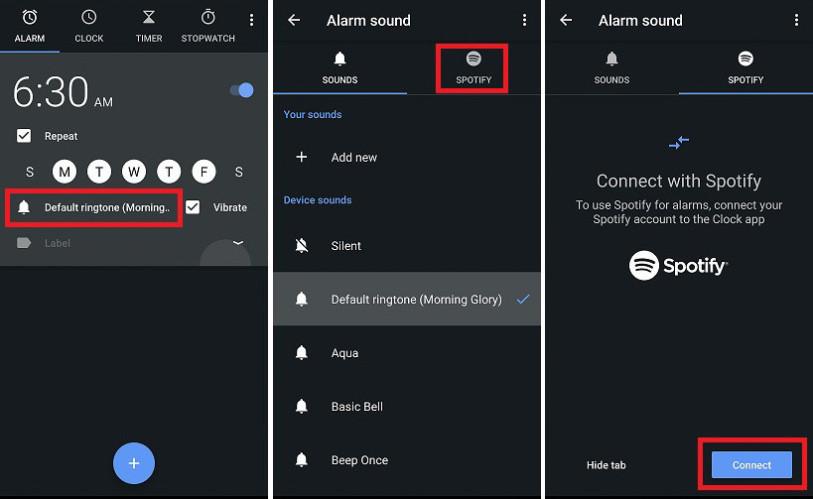 Активация Spotify через Google Часы