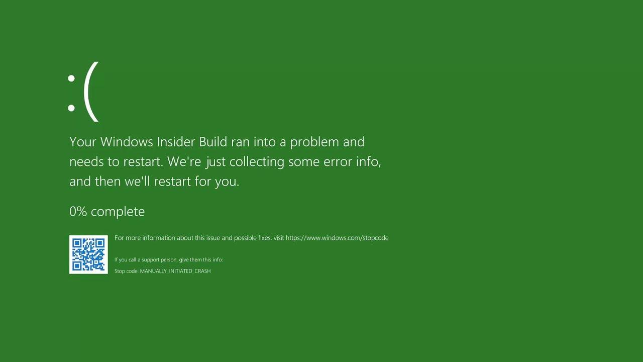 Зелёный экран смерти