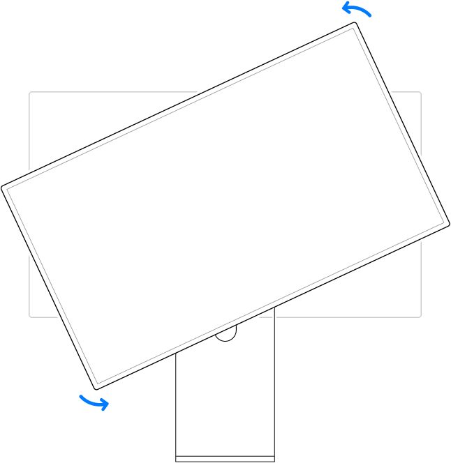 apple pro stand rotate
