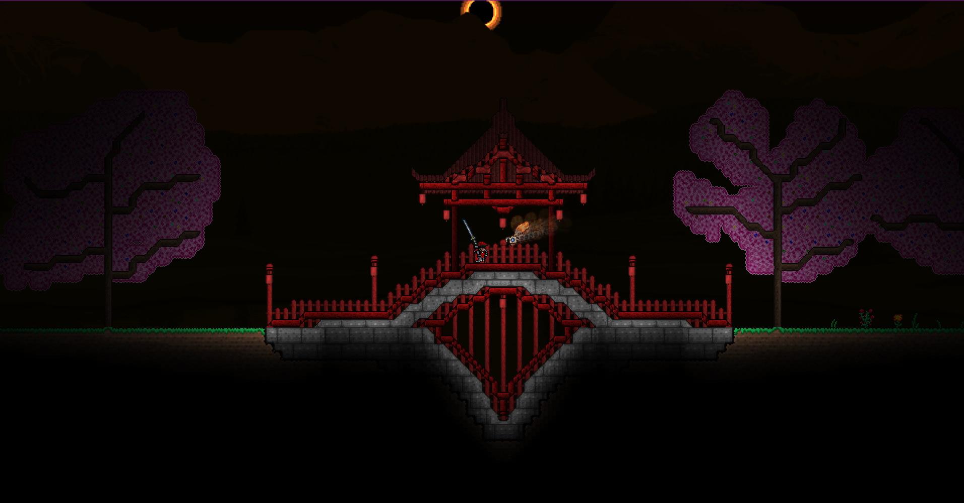 Тёмные ночи в мире Terraria