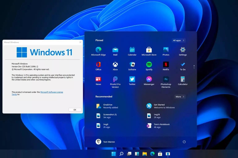 Интерфейс Windows 11