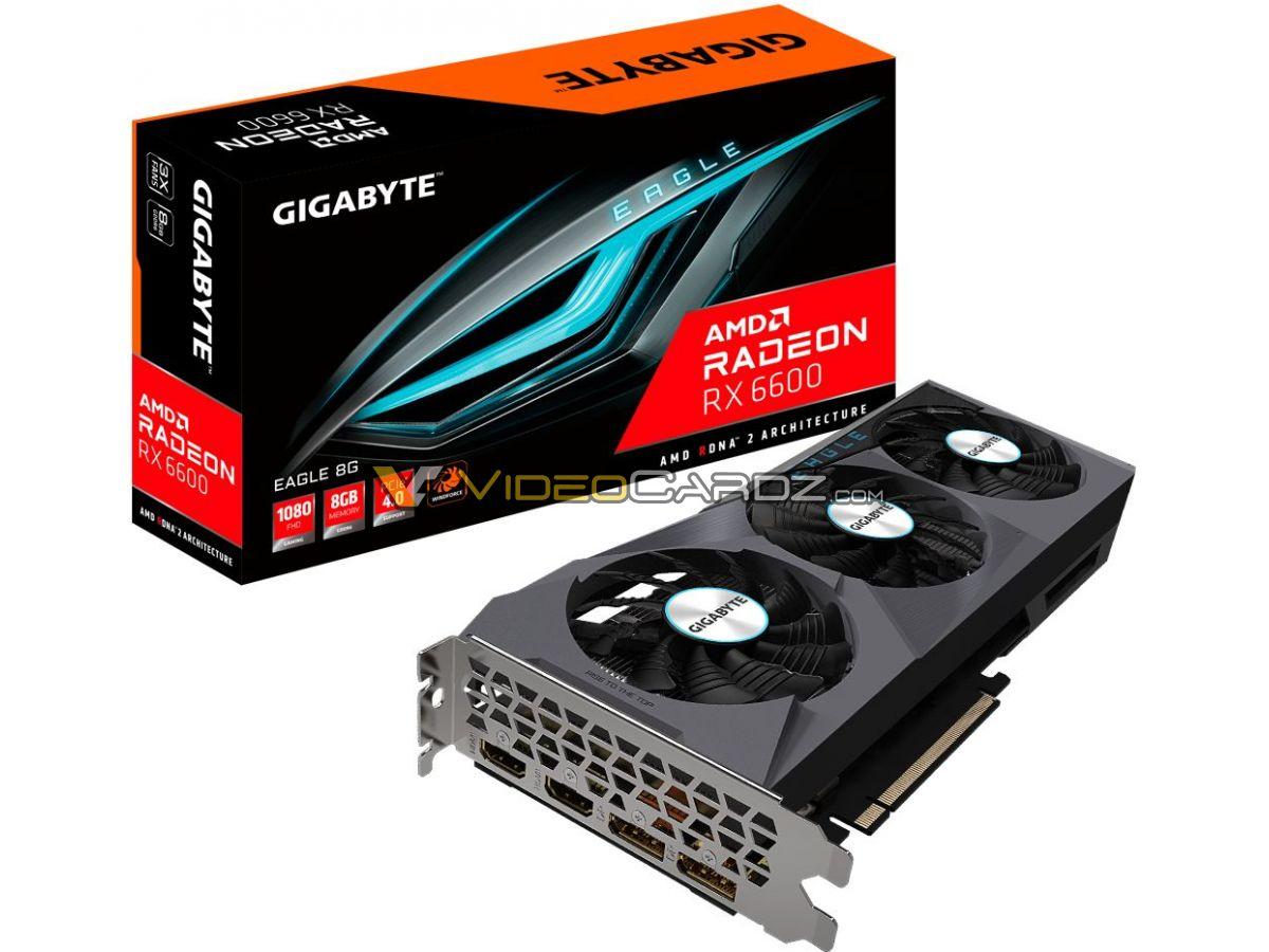 Gigabyte Radeon RX 6600 Eagle коробка