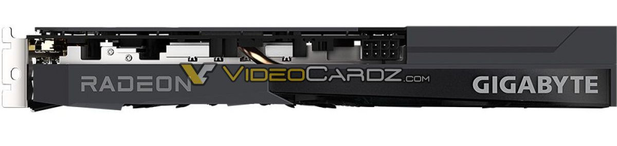 Gigabyte Radeon RX 6600 Eagle сверху