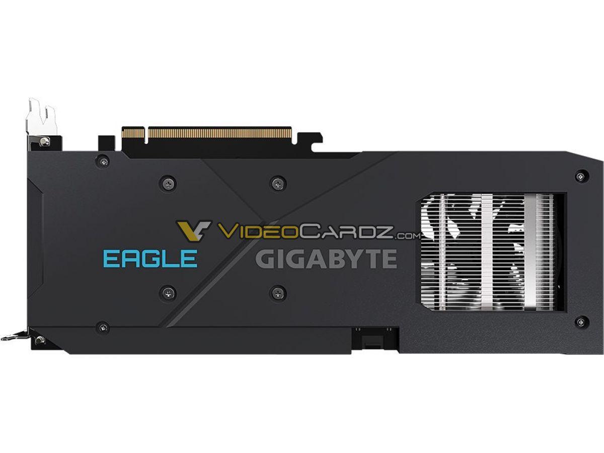 Gigabyte Radeon RX 6600 Eagle сзади